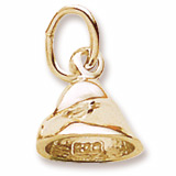 Gold Plate Chocolate Chip Charm by Rembrandt Charms