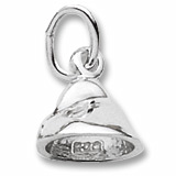 14K White Gold Chocolate Chip Charm by Rembrandt Charms