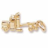 Gold Plated Truck Cab Charm by Rembrandt Charms