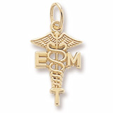 14K Gold EMT Caduceus Charm by Rembrandt Charms