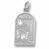 14K White Gold Noel Charm by Rembrandt Charms
