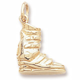Gold Plated Ski Boot Charm by Rembrandt Charms