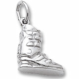 14K White Gold Ski Boot Charm by Rembrandt Charms