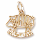Gold Plate Dieting Pig Charm by Rembrandt Charms