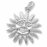 14K White Gold Sunburst Charm by Rembrandt Charms