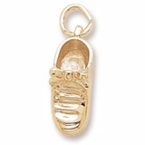 Gold Plate Baby Shoe Charm by Rembrandt Charms
