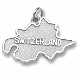 Sterling Silver Switzerland Map Charm by Rembrandt Charms