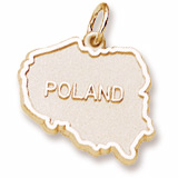 10K Gold Poland Map Charm by Rembrandt Charms