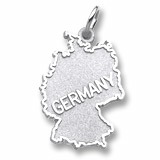 14K White Gold Map Charm by Rembrandt Charms