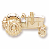 Gold Plated Tractor Charm by Rembrandt Charms