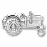 14K White Gold Tractor Charm by Rembrandt Charms