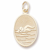 14K Gold Swimmer Charm by Rembrandt Charms