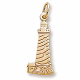 Gold Plated Cape Hatteras, NC Lighthouse by Rembrandt Charms