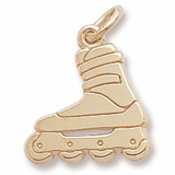 Gold Plated Inline Skate Charm by Rembrandt Charms
