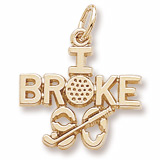 Gold Plated Golf Charm I Broke Ninety by Rembrandt Charms