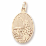10K Gold Fisherman Charm by Rembrandt Charms