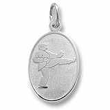 14K White Gold Martial Arts Charm by Rembrandt Charms