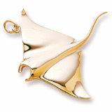 14K Gold Manta Ray Charm by Rembrandt Charms