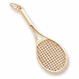 Gold Plated Tennis Racquet Charm by Rembrandt Charms