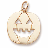 Gold Plated Jack O Lantern Charm by Rembrandt Charms