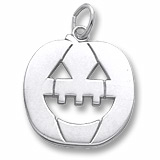 Sterling Silver Jack O Lantern Charm by Rembrandt Charms