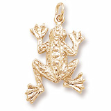 Gold Plate Frog Charm by Rembrandt Charms