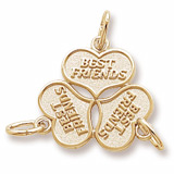 Gold Plated Three Best Friends Hearts Charm by Rembrandt Charms