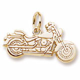 Gold Plated Motorcycle Charm by Rembrandt Charms