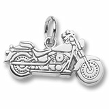 14K White Gold Motorcycle Charm by Rembrandt Charms