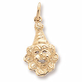 10K Gold Clown Charm by Rembrandt Charms
