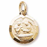 Gold Plated Baptism Charm by Rembrandt Charms