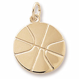 10K Gold Basketball Charm by Rembrandt Charms