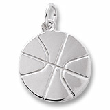 14K White Gold Basketball Charm by Rembrandt Charms