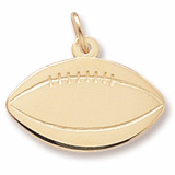 Gold Plated Football Charm by Rembrandt Charms