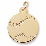 Gold Plated Baseball Charm by Rembrandt Charms