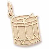 10K Gold Drum Charm by Rembrandt Charms