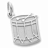 14K White Gold Drum Charm by Rembrandt Charms