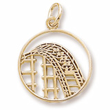 10K Gold Roller Coaster Charm by Rembrandt Charms