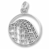 14K White Gold Roller Coaster Charm by Rembrandt Charms