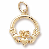 Gold Plated Claddagh Charm by Rembrandt Charms