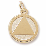 Gold Plated AA Alcoholics Anonymous Charm by Rembrandt Charms
