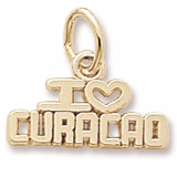 14K Gold I Love Curacao Charm by Rembrandt Charms