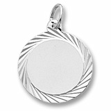 14K White Gold Diamond Faceted Disc Charm by Rembrandt Charms
