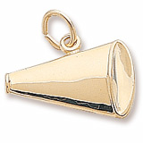 Gold Plated Megaphone Charm by Rembrandt Charms