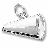 14K White Gold Megaphone Charm by Rembrandt Charms