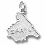 14K White Gold Spain Map Charm by Rembrandt Charms