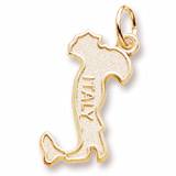 14K Gold Italy Map Charm by Rembrandt Charms
