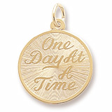 10K Gold One Day At A Time Disc Charm by Rembrandt Charms