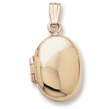 10K Gold Oval Locket Pendant by Rembrandt Charms