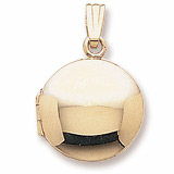 10K Gold Circle Locket Pendant by Rembrandt Charms